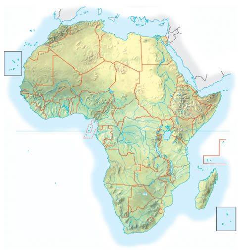 Cartina Africa Muta Fisica.Africa Fisica Muta L Asin Bigio